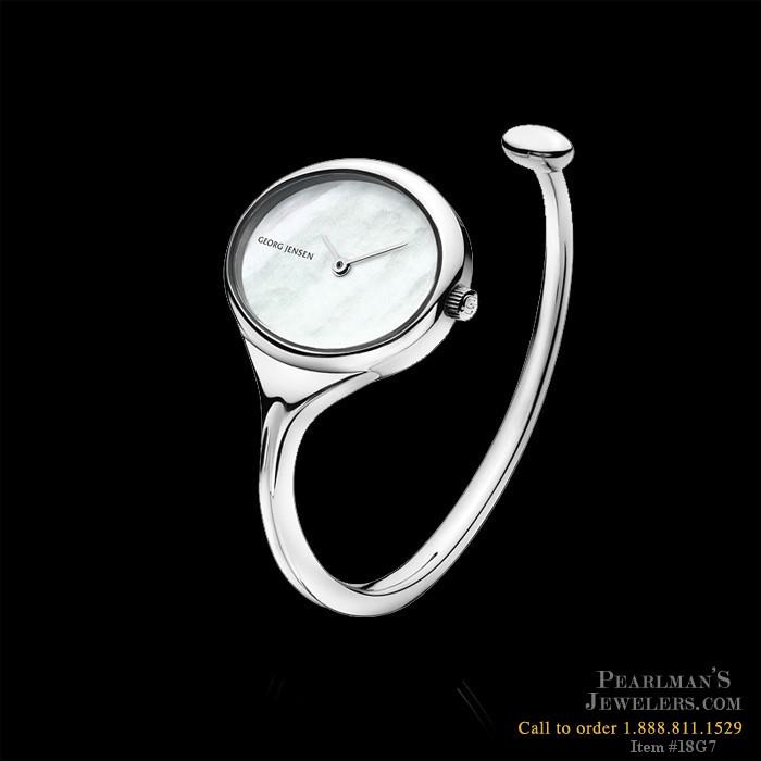 Georg Jensen Jewelry Vivianna Stainless Steel Open Bangle
