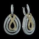 Beautiful pave two-toned diamond earrings from Spark. The earrings are set with 1.19 carats total weight of diamonds. The matching necklace is also available.