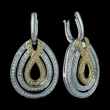Spark pave two-toned diamond earrings