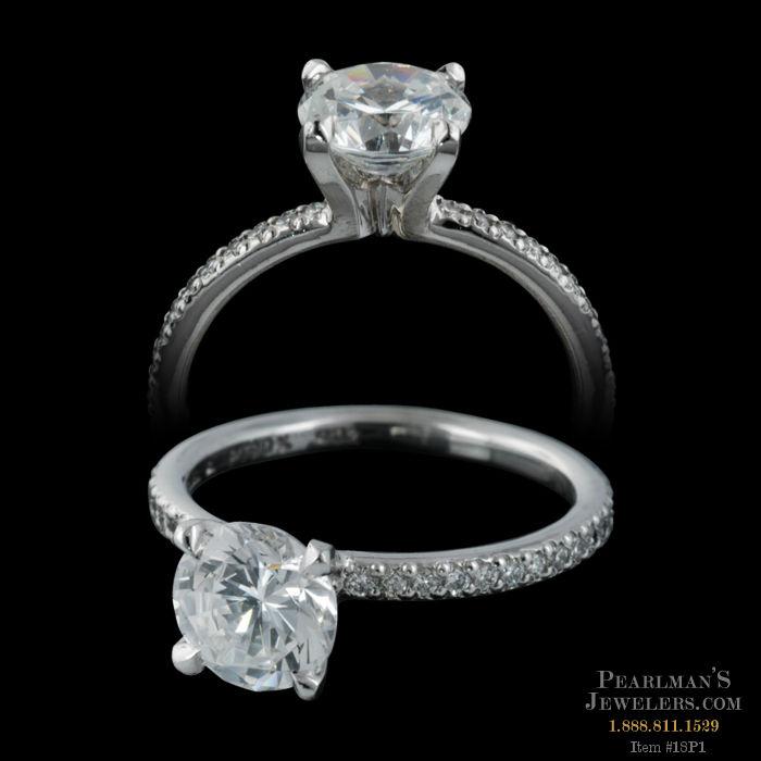 Michael b jewelry platinum petite princess engagement ring for Michael b s jewelry