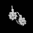 Beautiful floral 18kt white gold Beverley K. earrings shimmering with .38ct in diamonds.