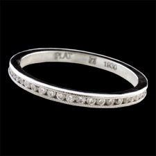 Pearlman's Bridal Venetian Channel Set band in platinum