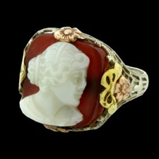 Estate Jewelry Antique pink, white, and green gold ring