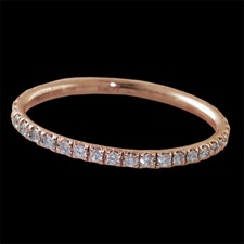 Pearlman's Bridal 18kt pink gold eternity ring