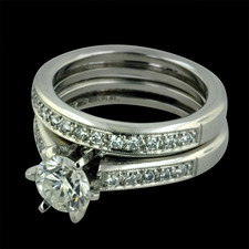 Estate Jewelry Ladies Platinum diamond wedding set