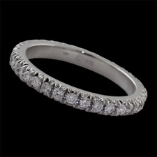 Pearlman's Bridal 18kt white gold diamond eternity ring