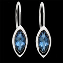 Add some intensity to your wardrobe with these deep London blue topaz and sterling silver earrings from Bastian Inverun. These earrings measure 14m x 7m.