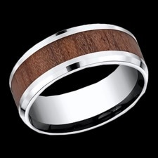 Benchmark Rose wood cobalt ring