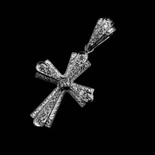 This platinum diamond hand made cross with .30ctw is of excellent craftsmanship.