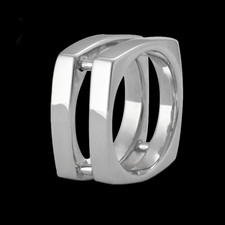 Metalsmiths Sterling Sterling silver Mens double band ring