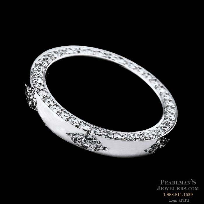 Michael b jewelry platinum pave set diamond ring for Michael b s jewelry