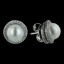 Michael B. pearl and diamond earrings