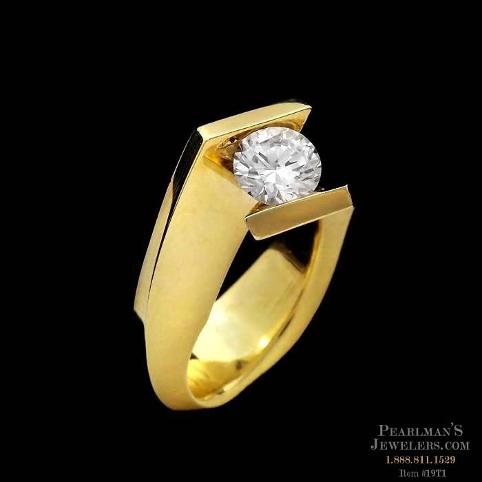 Eddie Sakamoto 18kt Yellow Gold By Pass Engagement Ring