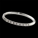 Our classic platinum ''mini prong'' diamond band. The diamonds are set 1/2 way around this ring. The piece is 1.4mm in width and set with .20ct of VS F-G ideal cut diamonds. Wear it anywhere any time. Stack with other mini's or larger rings. This is the best one made! Produced in the USA!