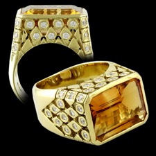 Estate Jewelry SeidenGang Citrine 18k gold ring