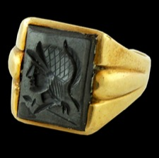 Estate Jewelry 10k gold Spartan head ring