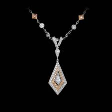 Michael Beaudry platinum and 18k rose gold kite pendant