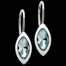 Make a statement of elegance with these engaging sterling silver and blue topaz earrings from Bastian Inverun. These earrings measure 14m x 6m in size.