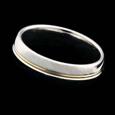Classic Christian Bauer 6mm platinum and 18kt gold wedding band.