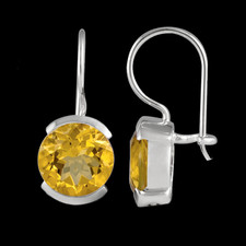 Metalsmiths Sterling Sterling silver Citrine earrings