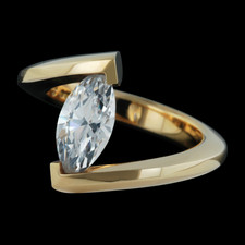Steven Kretchmer 18k gold marquise diamond ring