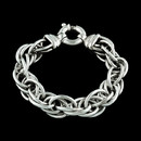 Dorfman's .925 sterling silver twist bracelets create a look of grace and sophistication. This piece measures 8.5 inches in length.
