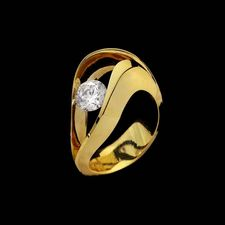 Eddie Sakamoto 18kt yellow gold split curved mounting