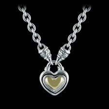 Scott Kay Sterling ladies ss/18kt baby heart with baby toggle necklace.