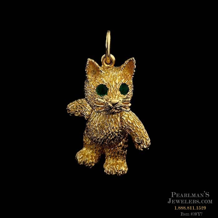 Robert bruce bielka jewelry 18kt gold cat pendant charm robert bruce bielka charms robert bruce bielka 18kt gold cat pendant aloadofball Gallery