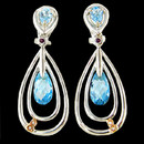 Sterling silver blue topaz earrings from Bellarri. The blue topaz has a total carat weight of 9.00(combined). These earrings measure 50mm x 18mm.