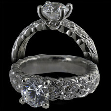 Harout R 18kt diamond engagement ring