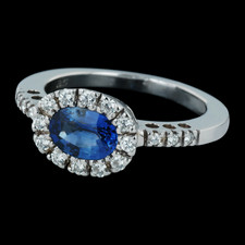 Spark 18k sapphire halo ring