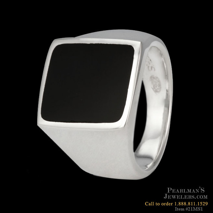8a224583e0d Metalsmiths Sterling Rings. Discontinued Metalsmiths Sterling Mens sterling  silver black onyx ring ...