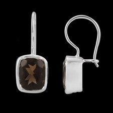 Metalsmiths Sterling smokey quartz Sterling silver earrings