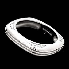 Alex Soldier Men's/Gents platinum/18kt square diamond wedding band