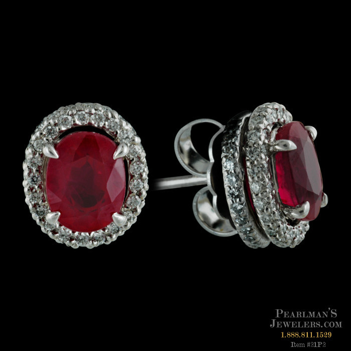 Michael b jewelry ruby and diamond earrings for Michael b s jewelry