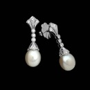 From Beverley K comes this beautiful pair of 18kt white gold dangle earrings with .20ctw of diamonds and wonderfully matched pearls.