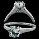 Classic platinum Fremont Collection solitaire engagement ring from Sholdt. Priced to accommodate a 1.0ct. center diamond, not included. Ask about other center stone sizes. Also available in 18K gold or palladium.