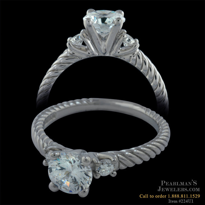 Scott Kay Palladium Engraved Three Sided Diamond Wedding: Scott Kay Jewelry Palladium Engagement Ring By Scott Kay
