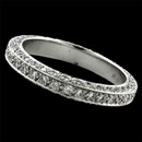 A diamond pave Captiva wedding band set with .80ct of diamonds.  2.5mm width. Beautiful eternity ring by Gumuchian Fils. VS F-G quality diamonds.