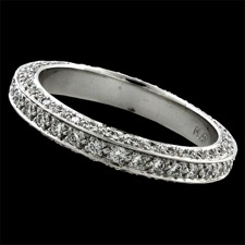 Pearlman's Bridal Platinum 3 sided wedding band