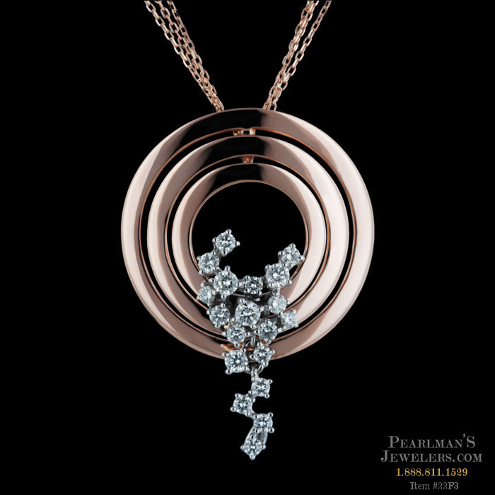 Damiani 18kt Rose Gold And White Gold Diamond Necklace