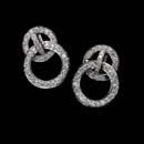 Mini diamond door knockers in platinum by Gumuchian, set with .47ctw of diamonds. The diamond circles are 11.0mm and jiggle.  Great dancing earrings.