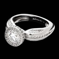 Alex Soldier Platinum and diamond halo engagement ring