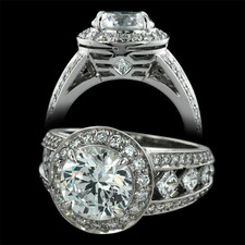 Peter Storm Naked Diamonds halo engagement ring
