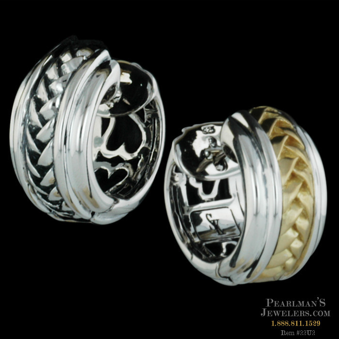 479e143bd022d Ladies sterling silver and 18k yellow gold reversible smal..