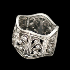 Cathy Carmendy platinum diamond French Lace ring
