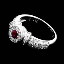 Chris Correia Chris Correia platinum diamond & ruby ring