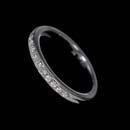 Classic diamond pave 1/2 diamond set wedding band in platinum.