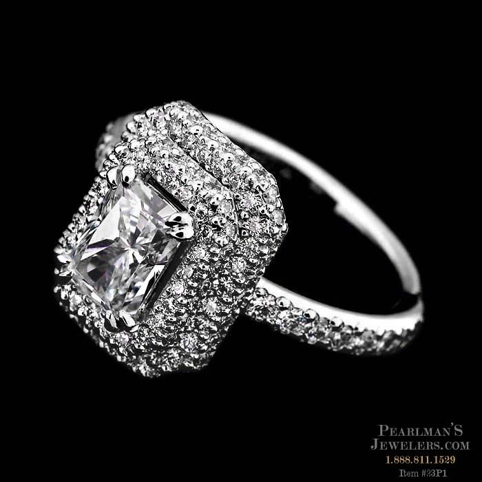 Michael b jewelry platinum pave diamond engagement ring for Michael b jewelry death